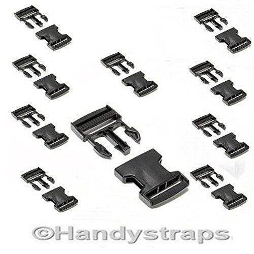 10-x-black-25-mm-plastic-side-release-buckles-for-webbing