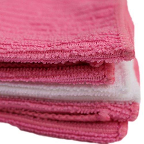 Prime Qualität (Everything You Need) Super absorbant en microfibre douce chiffons visage, à réduire la transpiration des & Sticky visage instantanément 30 cm - 30,5 cm (Rose et Blanc), Lot de 3