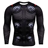 HOOLAZA T-Shirt Compression Homme Avengers Super Heroes Compression Thor Tops Fitness