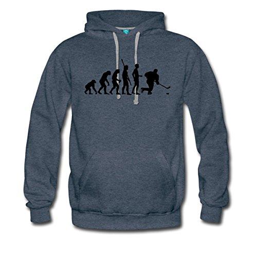 Spreadshirt Evolution Ice Hockey Sports Hobby Men's Premium Hoodie