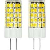 MENGS® Pack de 2 Bombilla lámpara LED 6 Watt G4, 63x2835 SMD, blanco frío 6500K, AC/DC 12V