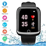 Montre Intelligente, Android iOS Smart Watch étanche à écran Tactile avec Appareil Photo Bluetooth Montre téléphone avec Emplacement pour Carte SIM, téléphone Portable pour Femme, Homme, Enfant