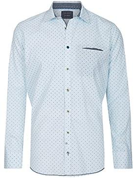 Calamar Herren Hemd, modisches Langarmhemd, Casual Fit, 100% Baumwolle, 109730 5S19
