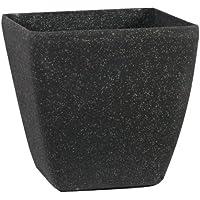 Pietra Luce Serie SK 28 centimetri Fusioni pietra rotonda Planter - invecchiato Nero Sandstone (confezione da 6)