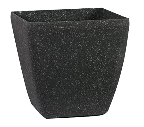 Stone Light SK Series 28cm Cast Stone Round Planter - Aged Black Sandstone (Pack of 6)