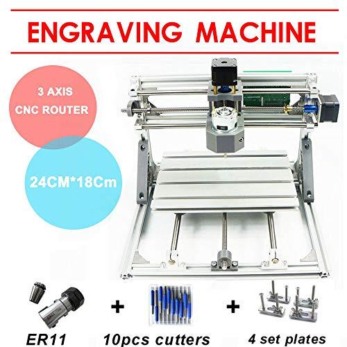 Mini DIY CNC 2418 Máquina Cortadora madera 3 ejes