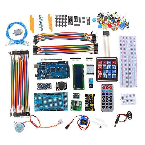 Kungfu Mall MEGA 2560 Project Starter Kit con LCD1602 Servo Motor Ultrasonic Sensor per Arduino