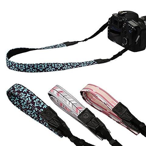 RoryTory 3pc Arrows Pattern Design Thin DSLR Camera Shoulder & Neck Strap Bundle