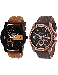 Cavalli Analogue Multi-Colour Dial Men'S And Boy'S Watch-Combo Of 2 Exclusive Watches-CW344