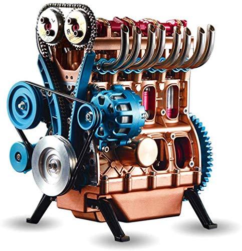 V4 Auto-Motor-Montage-Kit, Ganzmetallhandwerker Mini 4-Zylinder-Auto-Motor-Modell Hoch Challenge-Assembly-Spielzeug-Geschenk-Set