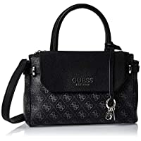 GUESS Women's Satchel Handbag, Coal - SY758205