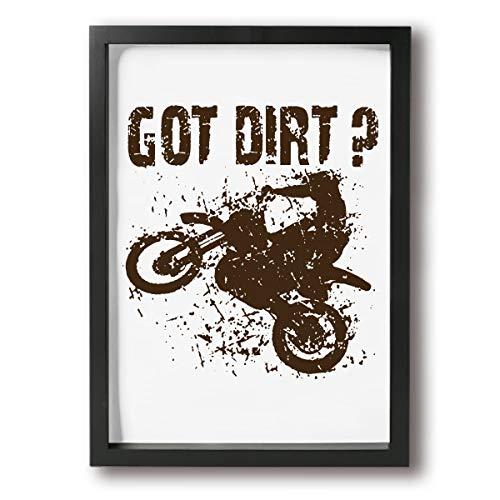 B.L.KLEEN Hand Painted Got Dirt Bike Motorcross Racing Oil Paintings Modern Decoration Print Stretched and Framed Canvas Wall Art Ready to Hang for Living Room Bedroom Decoration