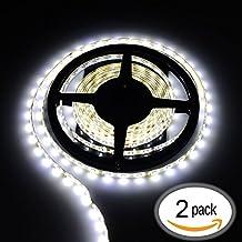 Ryham 10 metri 2 * 2835 300 LED 5M IP65 impermeabile flessibile della lampada della luce di striscia (solo striscia) Bianco