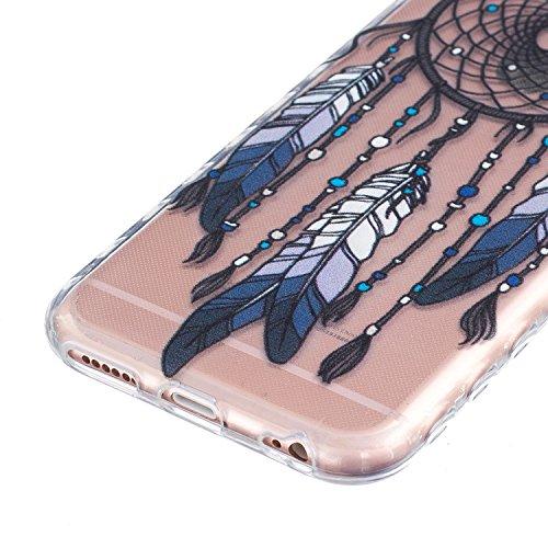 iPhone 6 Plus Hülle, E-Lush TPU Soft Silikon Tasche Transparent Schale Clear Klar Hanytasche für Apple iPhone 6/6S Plus(4,7 zoll) Durchsichtig Rückschale Ultra Slim Thin Dünne Schutzhülle Weiche Flexi Traumfänger