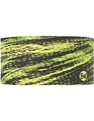 Original Buff Fract Yellow Fluor - Headband Coolmax unisex, diseño estampado