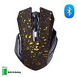 Bluetooth Maus,KINGCOO Wireless Silent und Wiederaufladbare Geräuschlose Plus Große Kabellose Gaming Maus mit 6 Tasten,3 einstellbare DPI für Laptop,Macbook 2017 und Android OS Tablet (Schnee Gold)