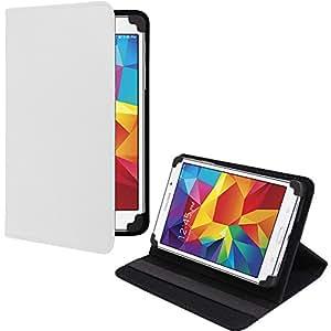 Etui Universel setup blanc pour tablettes de 7-8 pouces avec scratch