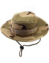Nuevos Hombres Del Casquillo Del Sombrero De La Caza Al Aire Libre De Gran Cubo De La Pesca Unisex Camo Del Desierto