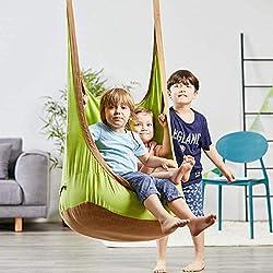 Eggdel hamac/balancelle à suspendre pour enfants à adulte intérieur et extérieur - Vert