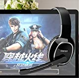 Edifier Ohrhörer Computer Ohrhörer Spiel Telefon Headsets mit Mikrofonen, schwarz