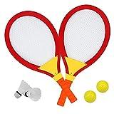 Tennisschläger Kinder Badminton Set Federball Racket Garten Draussen Spielzeug Geschenk für Kinder ab 3 4 5 Jahren