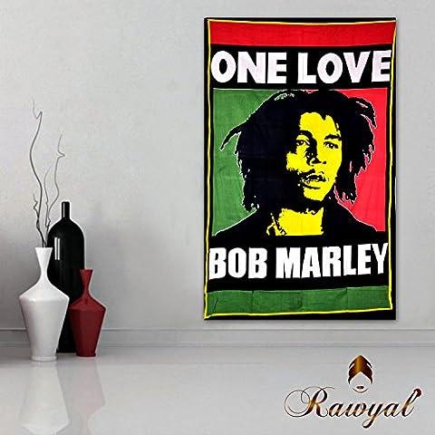 Bob Marley movente, murales indiani hippi, spiaggia, a parete, a soffitto; per la decorazione / Decorazione