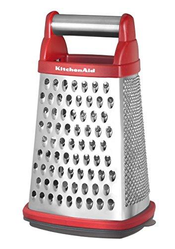 KitchenAid Reibe mit Auffangbehälter, rot