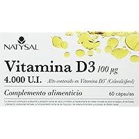 Natysal - Complemeto alimenticio con alto contenido en Vitamina D3, 4.000 U.I. 60 caps.