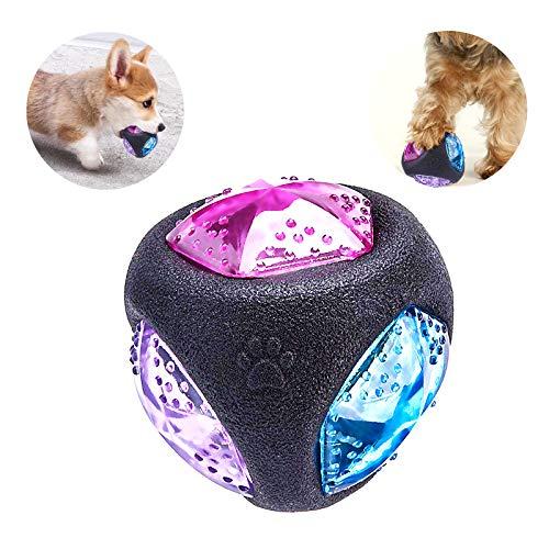 PEDOMUS Hundespielzeug Ball mit LED Licht und Squeaker,… | 00681381184253