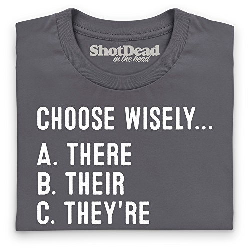 Choose Wisely T-Shirt, Damen Anthrazit