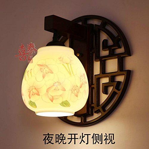 Chinesische Keramik Wandleuchten Arts Wandleuchten aus massivem Holz off road Balkon Hyun geschnitzt aus Schlafzimmer Bett Wandleuchten rote Pulver Begonia Apple nicht mit der Art der Glühlampe - Begonia-arten