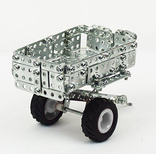 RC Auto kaufen Traktor Bild 5: Tronico 09541 - Metallbaukasten Traktor Massey Ferguson MF-7600 mit Kippanhänger und Fernsteuerung, Maßstab 1:64, Micro Serie, rot, 427 Teile*