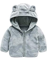 1c647a9879c LQZ Baby Infant Girls Autumn Winter Cute Ear Hoodie Coat Thick Warm Outwear  Jacket