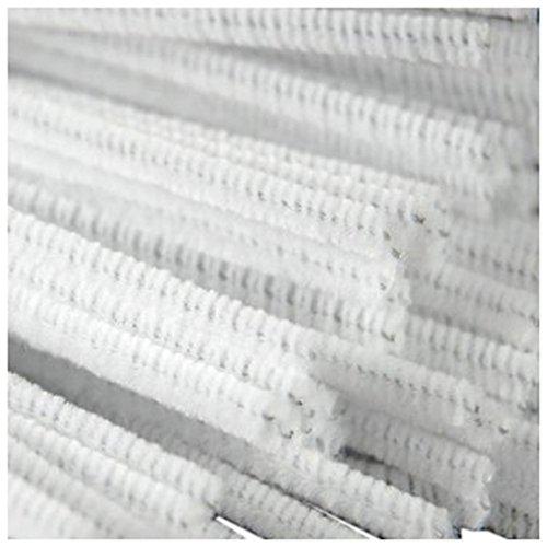 TOOGOO R  100 Pcs 30cm creation pipe cleaners  white