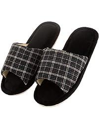 2873071fa913 DRUNKEN Men Cushioned Slip On Memory Foam Carpet Indoor Slippers Black