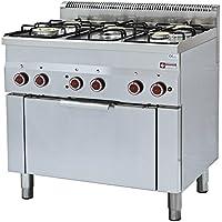 Modular Cocina de gas 5 Grabadora y eléctrico convección horno – invitados Lando
