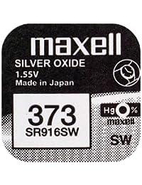 Pila maxell de Boton oxido Plata 373 SR916SW, Cablepelado®