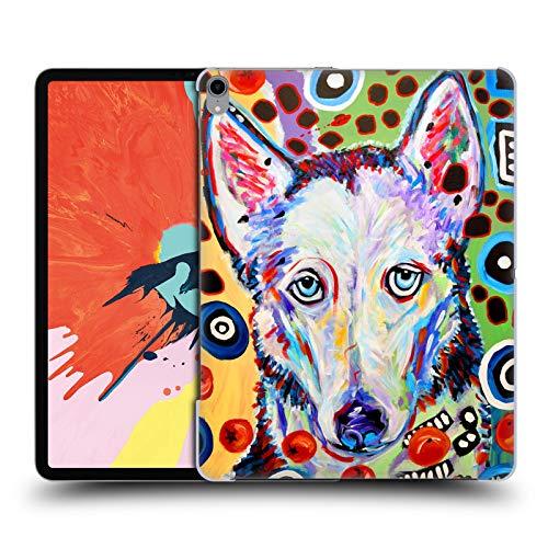 Head Case Designs Offizielle Mad Dog Art Gallery Husky DOO Hunde 2 Harte Rueckseiten Huelle kompatibel mit iPad Pro 12.9 (2018) (Head Doo Doo)