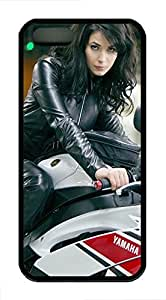 Coque Iphone 5/5s, Coque antichoc fine ioulia snigir Good Day to Die Vélo idées IP5Étui rigide pour iPhone 5/5S Ultra Coque arrière de protection en caoutchouc pour protection contre les chocs pour iPhone 55S (Noir)