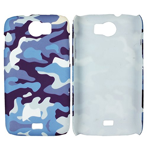 Heartly Army Style Retro Color Armor Hybrid Hard Bumper Back Case Cover For Micromax Canvas 2 A110 Dual Sim - Navy Blue  available at amazon for Rs.149