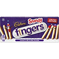 Cadbury Snowy Leche nevada y chocolate blanco Limited Edition Fingers (pack of 6)