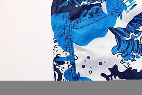 Anguang Hommes Vague Floral Short de Bain Plage Décontracté Short de Beach Sport L-XXL Multicolore