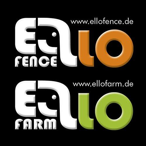 Ellofence Paddock-Weidezaun-Starterset: mit Weidezaungerät, Weidezaunband, Erdpfahl, Isolatoren und Tester -