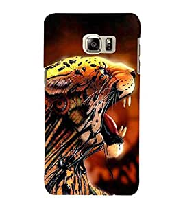 FUSON Tiger Angry In Jungle 3D Hard Polycarbonate Designer Back Case Cover for Samsung Galaxy Note Edge :: Samsung Galaxy Note Edge N915Fy N915A N915T N915K/N915L/N915S N915G N915D