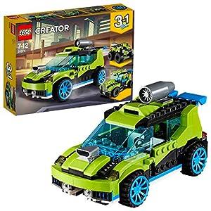 LEGO Creator 3 en 1 - Coche de Rally a Reacción, Juguete de Construcción de Vehículos de Carreras de Color Verde con Detalles Realistas para Niños y Niñas de 7 a 12 Años (31074)