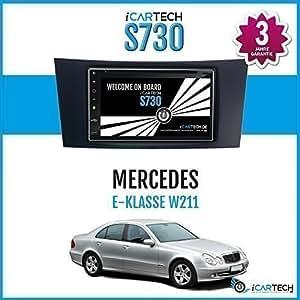 """ICARTECH - Autoradio Lecteur DVD 7"""" pour Mercedes Classe E W211 ◄ Le husky Android 4.1 Radio avec Navigation GPS ✔Bluetooth✔WiFi✔Multi-Touch Display✔3G✔4G✔ Préparation pour: TV (DVB-T) & Radio Numérique (DAB+), Caméra Tableau de Bord (DVR), Extension"""