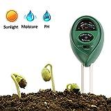 Vegena Boden Feuchtigkeit Meter,Bodentester,3-in-1 Pflanze Tester, Boden-pH und Feuchte, Lichtstärke Meter Pflanze Tester für Garten, Bauernhof, Rasen kein Batterien erforderlich (Nur für Landen)