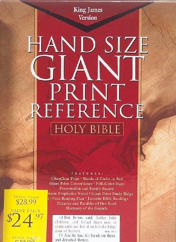 Bible Kjv Giant Print Reference Black Imm