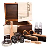 Selvyt Luxury Walnut Veneer Shoecare Valet Box with Selvyt Cloths