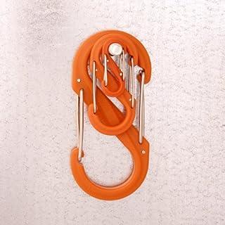 NITE IZE S-Biner Doppelkarabiner, Kunststoff, Groesse 0, 2er Pack, orange